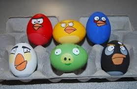 пасхальные яйца энгри бердс